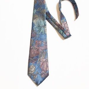 Oscar De La Renta Metallic Blue Green Brown Tie